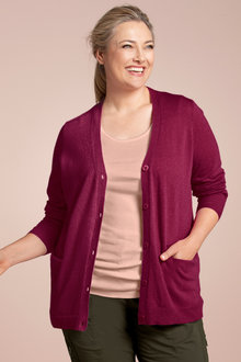 Plus Size - Sara Lambswool Pocket Cardigan