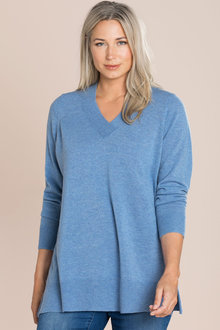 Plus Size - Sara Lambswool V Neck