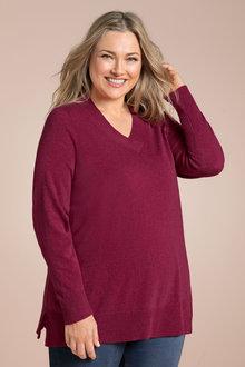 Plus Size - Sara Lambswool V Neck