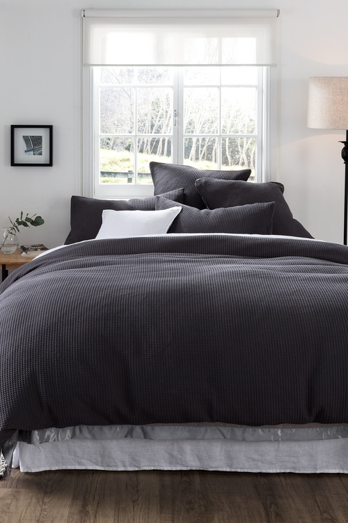 Darcy Waffle Duvet Cover Set