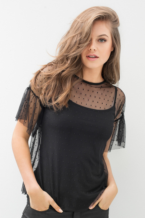Emerge Dobby Mesh Knit Top