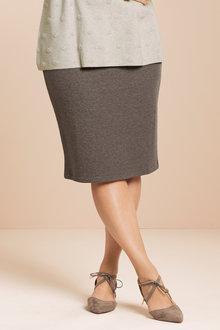 Plus Size - Sara Ottoman Rib Knit Skirt