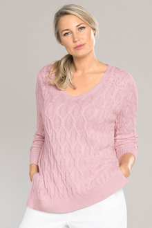 Plus Size - Sara Cable Jumper
