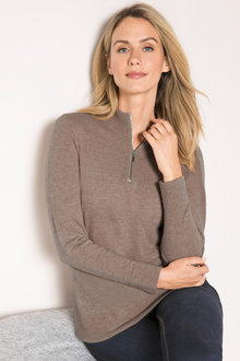 Capture Lambswool Half Neck Zip Sweater