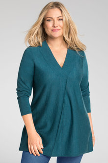Plus Size - Sara Merino Pleat Front Tunic