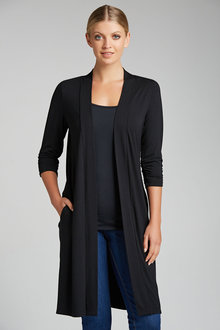 Capture Longline Classic Ruched Sleeve Cardigan - 190172