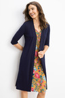 Capture Longline Classic Ruched Sleeve Cardigan