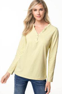 Capture Long Sleeve Henley Top