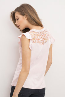 Emerge Lace Trim Sleeveless Top
