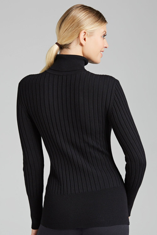 723c7713c01 Capture Roll Neck Long Sleeve Ribbed Knit Top