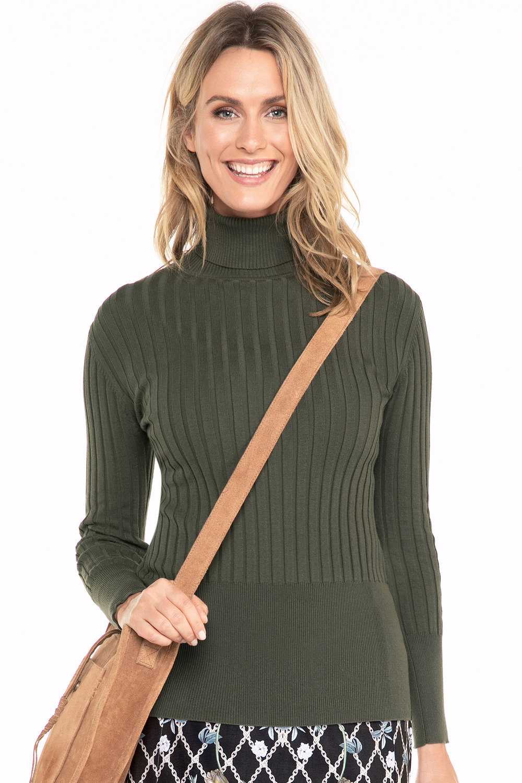 ba19d7693e3 Capture Roll Neck Long Sleeve Ribbed Knit Top Online | Shop EziBuy