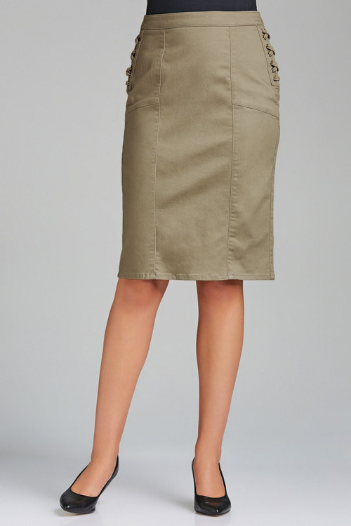 Capture Lace Up Side Pencil Skirt
