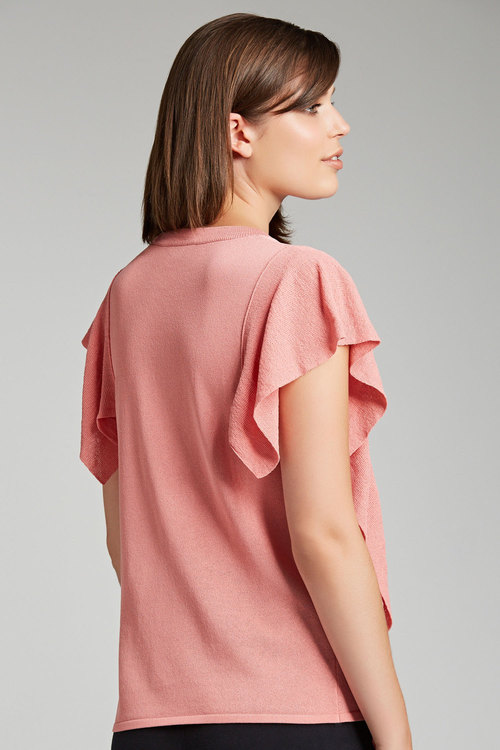 Capture Ruffle Detail Knit Top