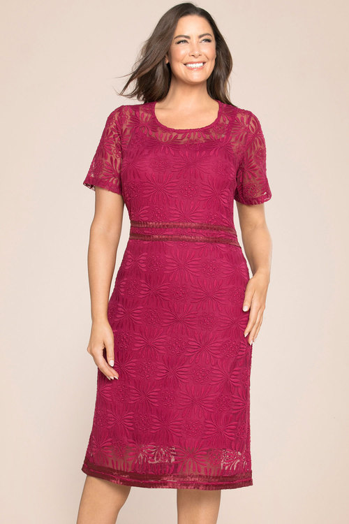 Sara Embroidered Lined Dress