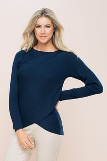 Capture Textured Cross Front Sweater