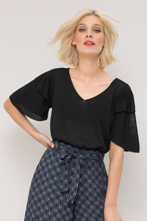 Emerge Ruffle Knit Top