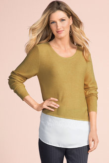 Grace Hill Mixed Media Sweater - 190271