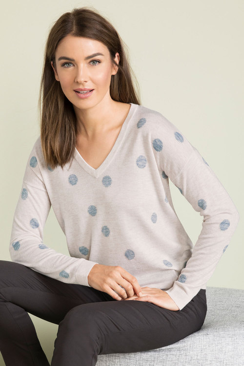 Capture V Neck Novelty Sweater