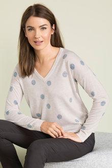 Capture V Neck Novelty Sweater