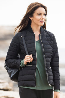 Isobar Outdoors Quilted Puffer Bomber Jacket