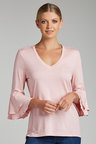 Capture Bell Sleeve Double Ruffle Top