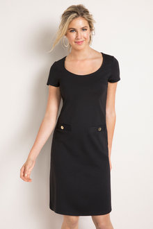 Capture Pocket Ponti Shift Dress