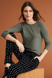 Capture Long Sleeve Cotton Rib Top
