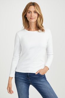 Capture Long Sleeve Cotton Rib Top - 190330