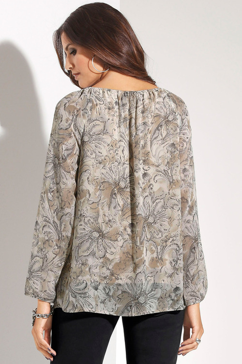 Euro Edit Floral Printed Top