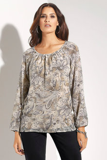 Euro Edit Floral Printed Top - 190352