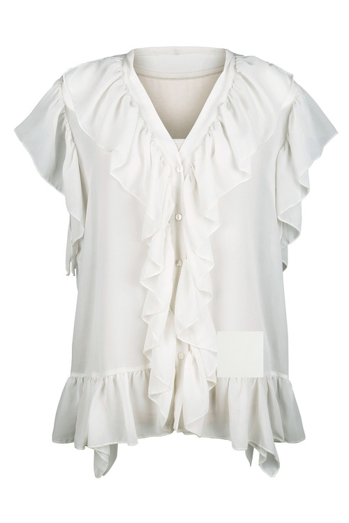 Euro Edit Frill Blouse with Cami