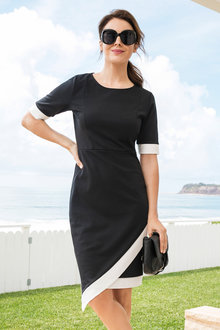 Capture Asymmetric Crossover Dress