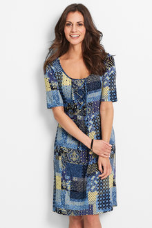 Capture Patchwork Print Dress