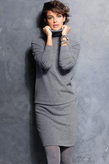 Euro Edit Roll Neck Dress