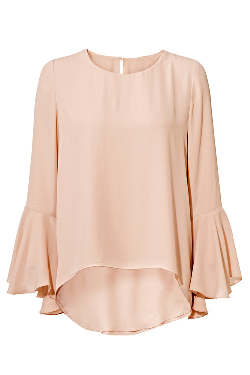 Heine Bell Sleeve Silk Blend Top