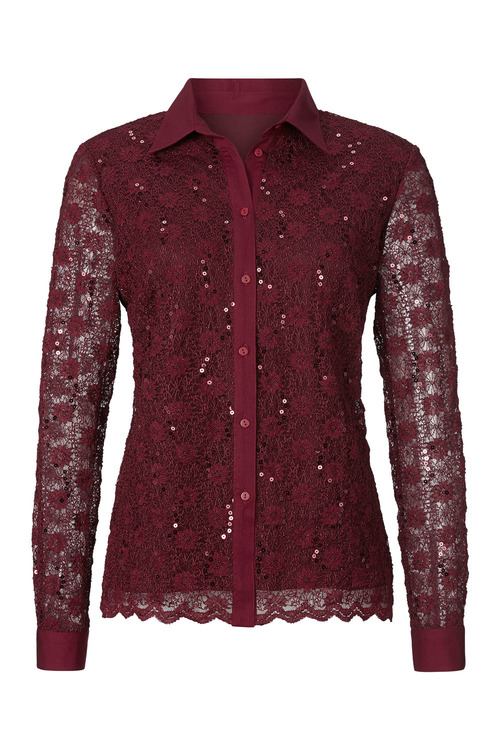 Capture European Lace Sequined Shirt