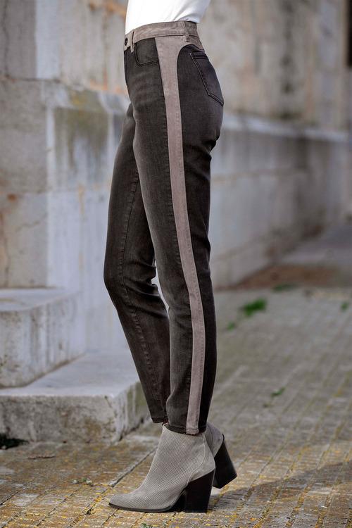 Euro Edit Contrast Panel Jeans