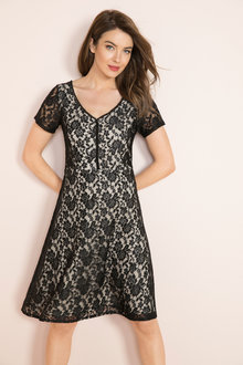 Capture Lace Fit & Flare Dress