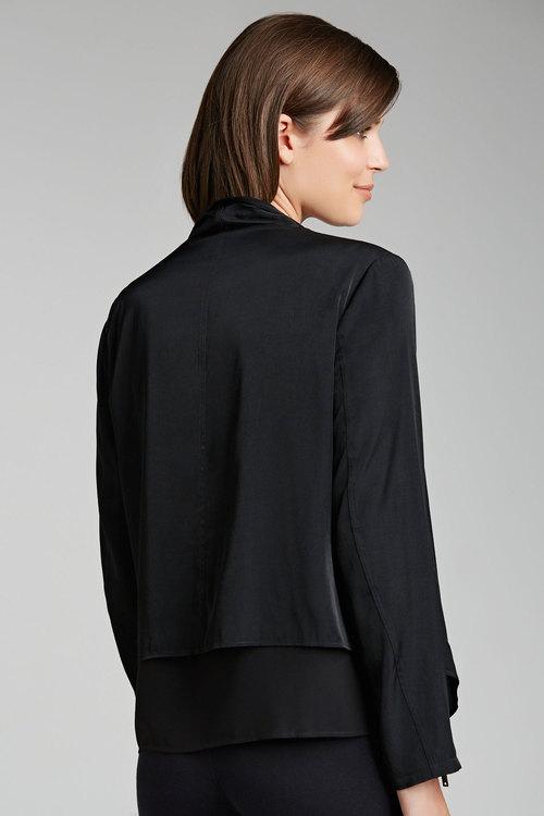 Grace Hill Double Layer Drape Jacket