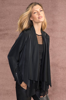 Grace Hill Double Layer Drape Jacket