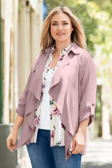 Plus Size - Sara Soft Drape Jacket