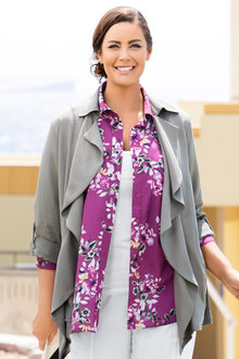 Plus Size - Sara Soft Drape Jacket