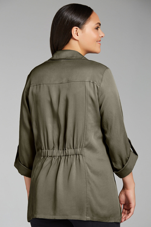 24652f55564 Plus Size - Sara Soft Drape Jacket