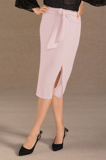 Grace Hill Tie Waist Straight Wrap Skirt