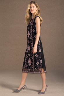 Grace Hill Embroidered Mid Dress