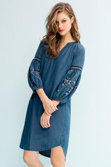 Emerge Embroidered Sleeve Dress