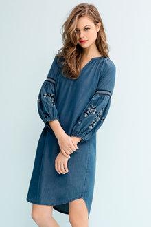 Emerge Embroidered Sleeve Dress - 190495