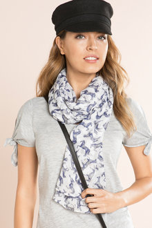 Horse Print Cotton Scarf