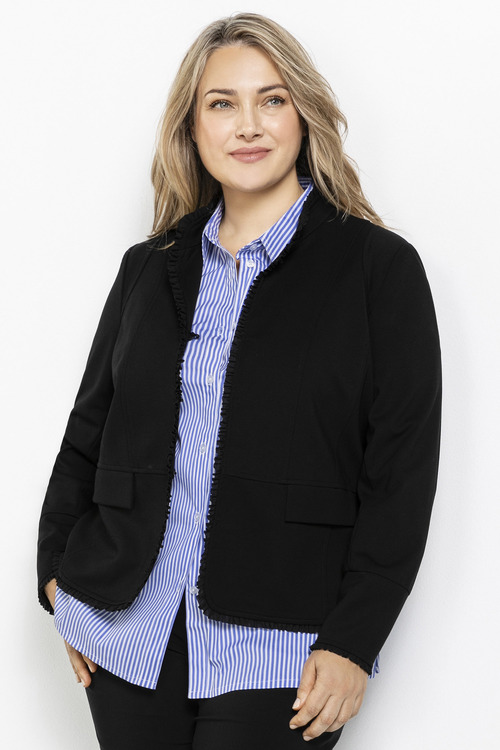 Sara Ponte Ruffle Trim Jacket