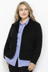 Plus Size - Sara Ponte Ruffle Trim Jacket